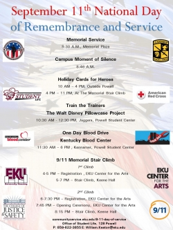 Campus Events on Sept. 11 Remember Heroes